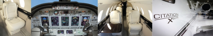 Citation X Elite business jet avionics, interior, exterior