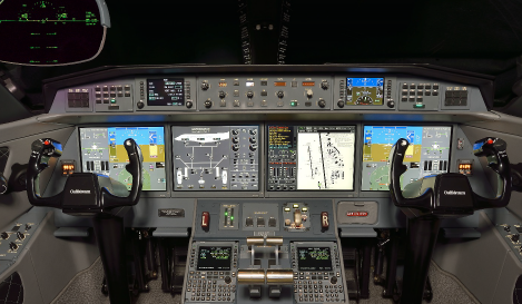 2013 Gulfstream G650 - avionics in cockpit