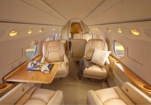 Gulfstream V forward 4-person club seats - Guardian Jet