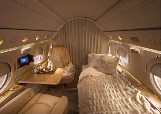 Gulfstream aft sleeping area - Guardian Jet