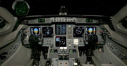 Gulfstream avionics flight deck - Guardian Jet