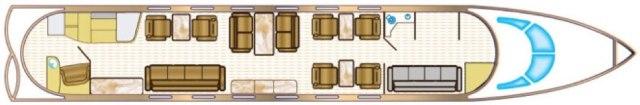 Gulfstream V floorplan - Guardian Jet