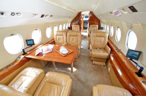 Falcon 2000 sn 203 interior 5 guardian jet