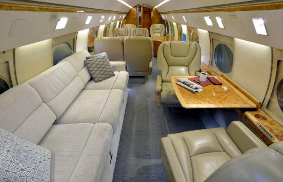 Gulfstream GIV-SP sn 1301 interior refurbished
