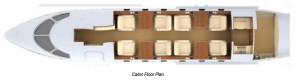 Challenger 300 serial number 20252 floor plan layout