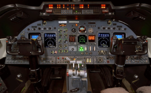 Guardian Jet Bombardier Learjet 60 avionics flight deck