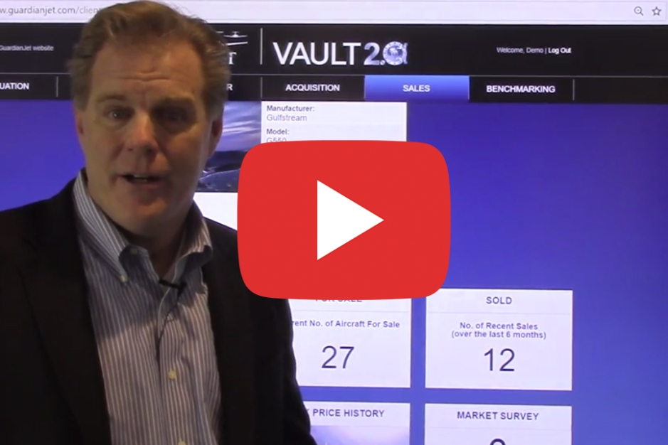Mike Dwyer Guardian Jet Managing Partner demonstrates the Vault 2.0 Online Asset Management System